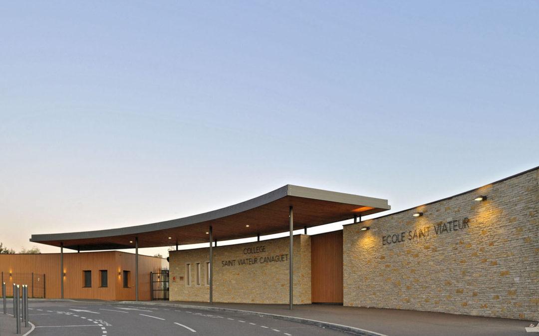 Bâtiment Entrée Collège Canaguet et Ecole Saint Viateur – Onet